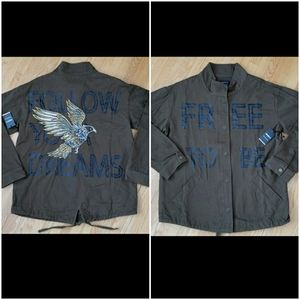 Forever 21 embroidered women jacket
